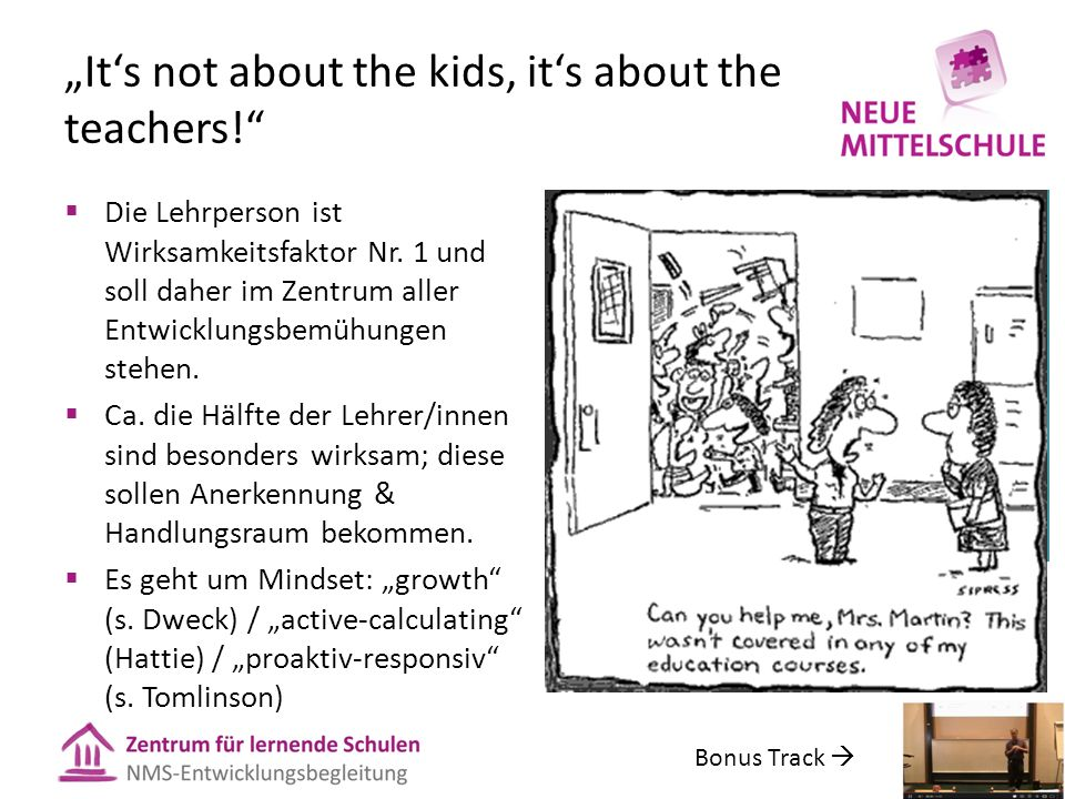"""It's not about the kids, it's about the teachers!"