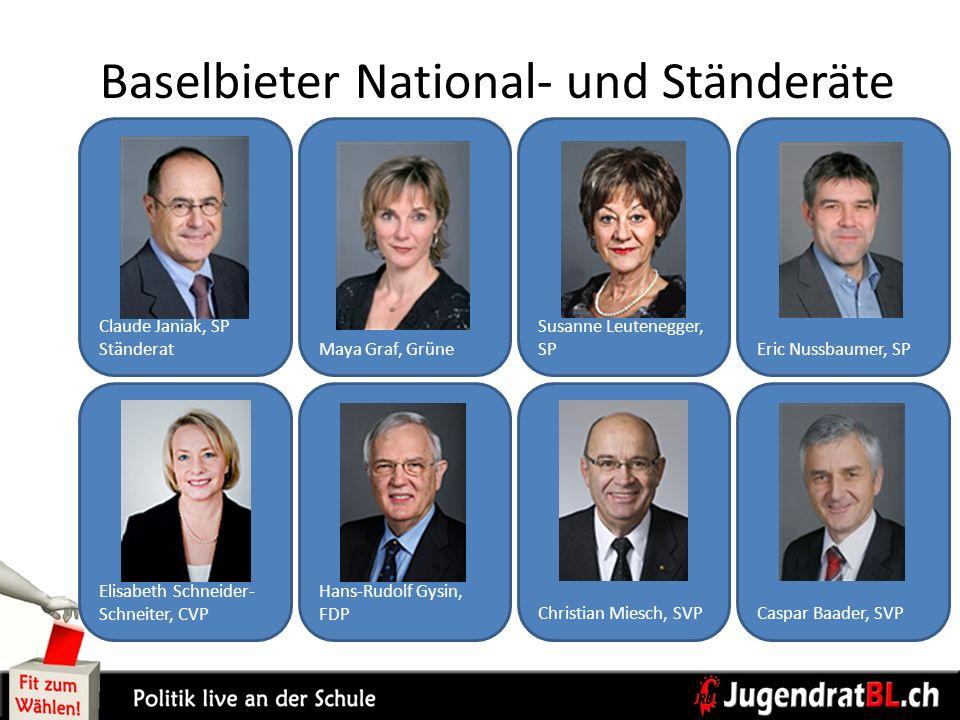 Baselbieter National- und Ständeräte