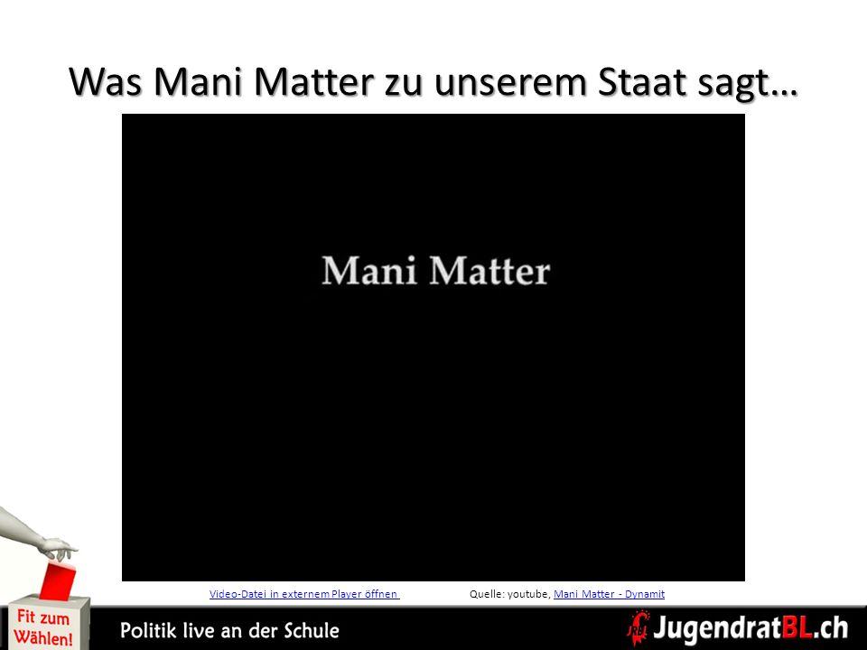 Was Mani Matter zu unserem Staat sagt…