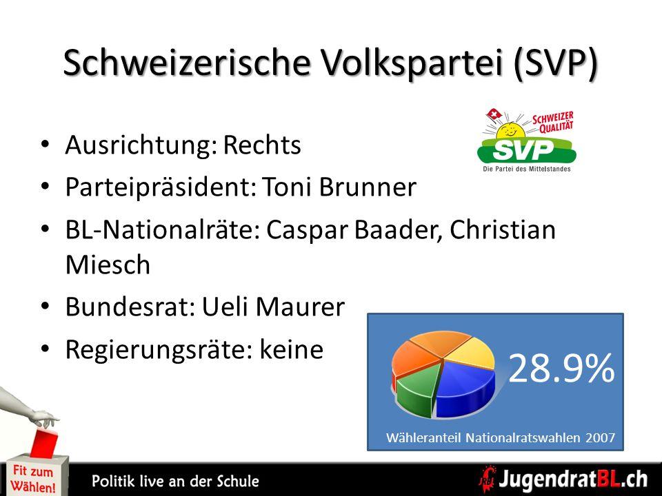 Schweizerische Volkspartei (SVP)