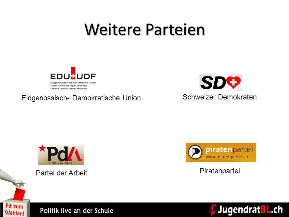 Weitere Parteien Eidgenössisch- Demokratische Union