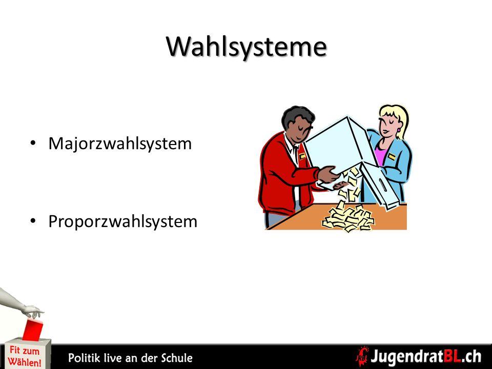 Wahlsysteme Majorzwahlsystem Proporzwahlsystem S. 9
