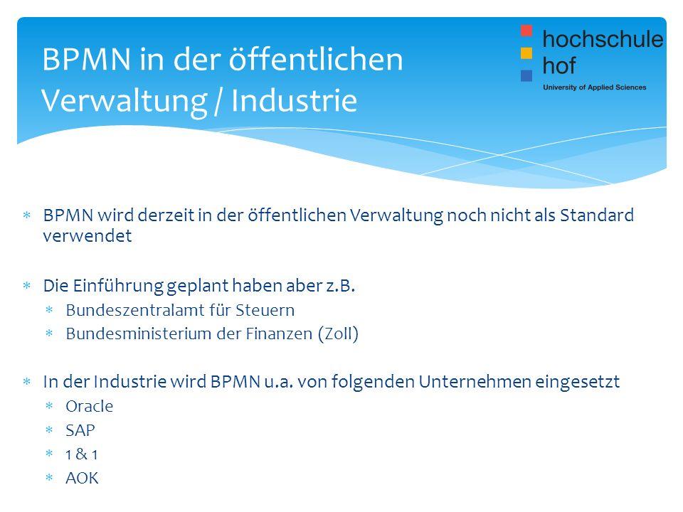 BPMN in der öffentlichen Verwaltung / Industrie