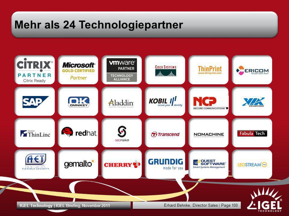 Mehr als 24 Technologiepartner