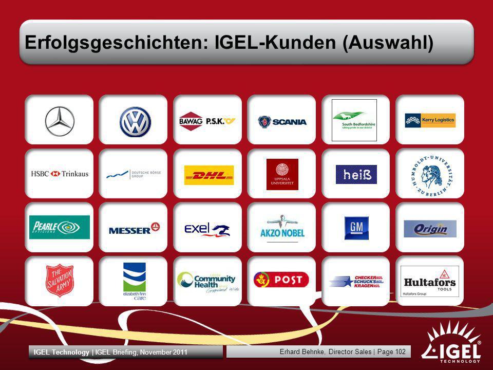 Erfolgsgeschichten: IGEL-Kunden (Auswahl)
