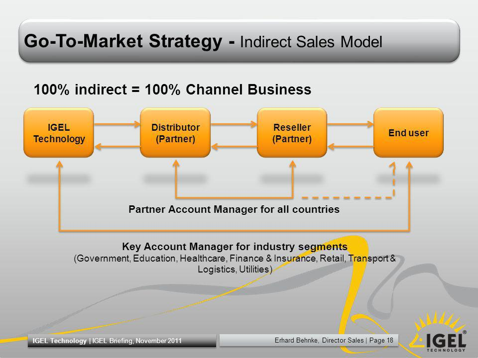 Go-To-Market Strategy - Indirect Sales Model