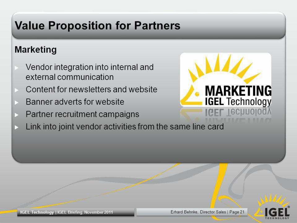 Value Proposition for Partners