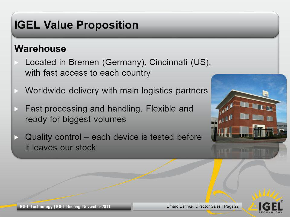IGEL Value Proposition