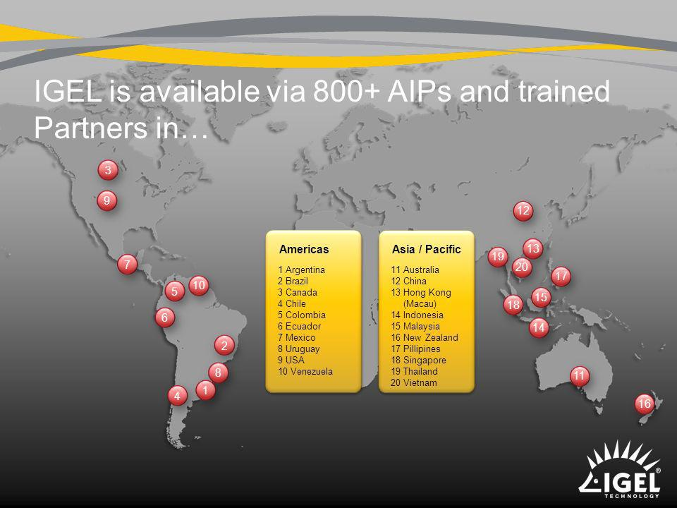 IGEL is available via 800+ AIPs and trained Partners in…