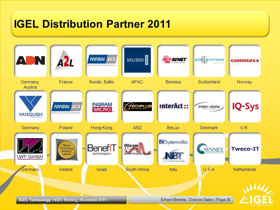 IGEL Distribution Partner 2011
