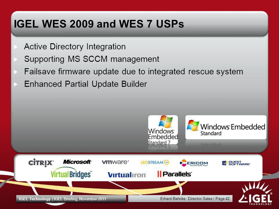 IGEL WES 2009 and WES 7 USPs Active Directory Integration