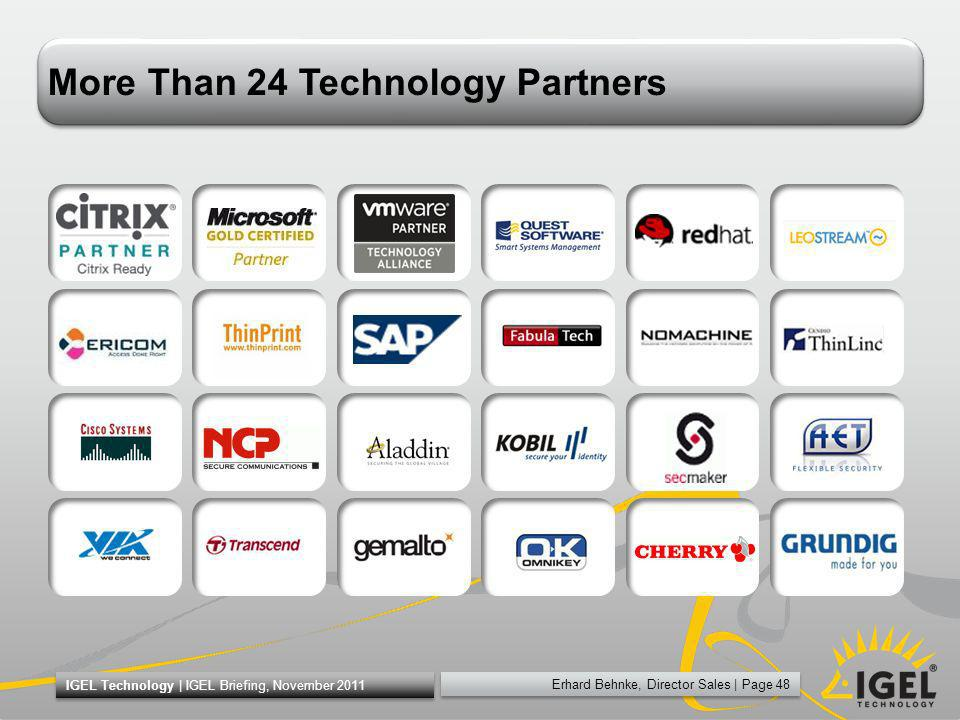 More Than 24 Technology Partners