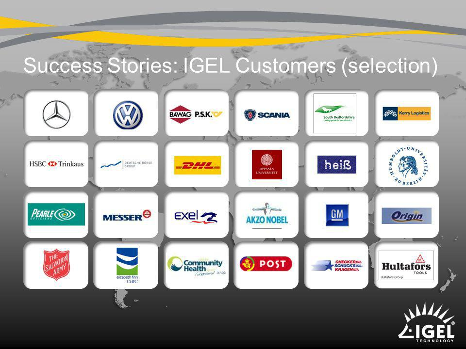 Success Stories: IGEL Customers (selection)