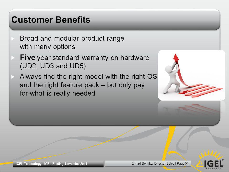 Customer Benefits Broad and modular product range with many options. Five year standard warranty on hardware (UD2, UD3 and UD5)