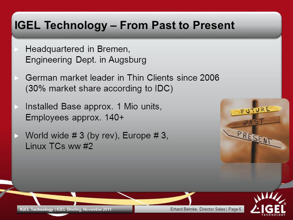 IGEL Technology – From Past to Present