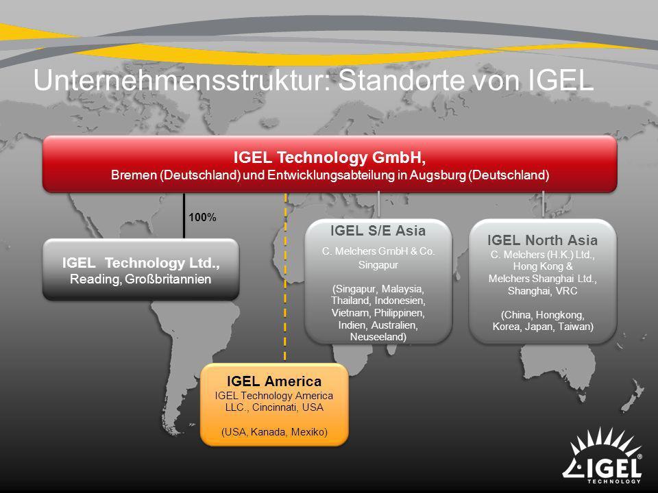 Unternehmensstruktur: Standorte von IGEL