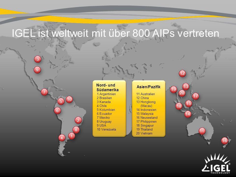IGEL ist weltweit mit über 800 AIPs vertreten