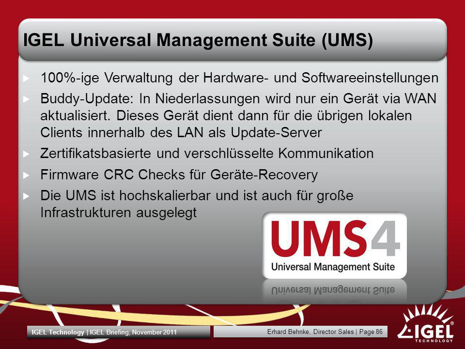 IGEL Universal Management Suite (UMS)