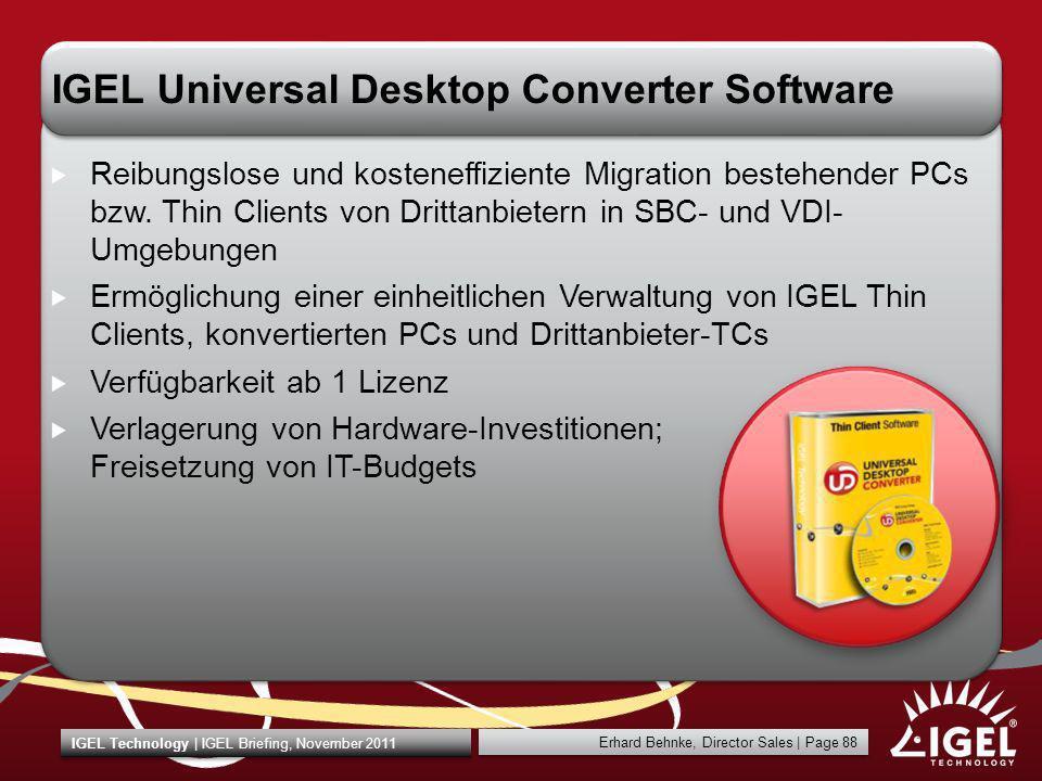 IGEL Universal Desktop Converter Software
