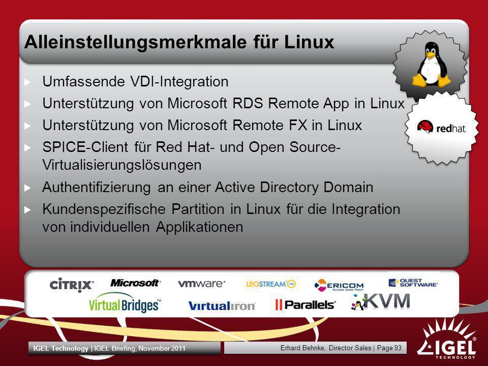 Alleinstellungsmerkmale für Linux