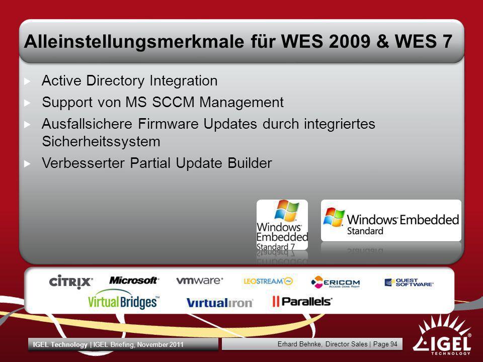 Alleinstellungsmerkmale für WES 2009 & WES 7