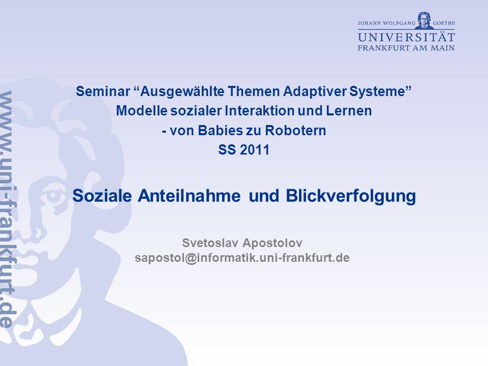 Svetoslav Apostolov sapostol@informatik.uni-frankfurt.de