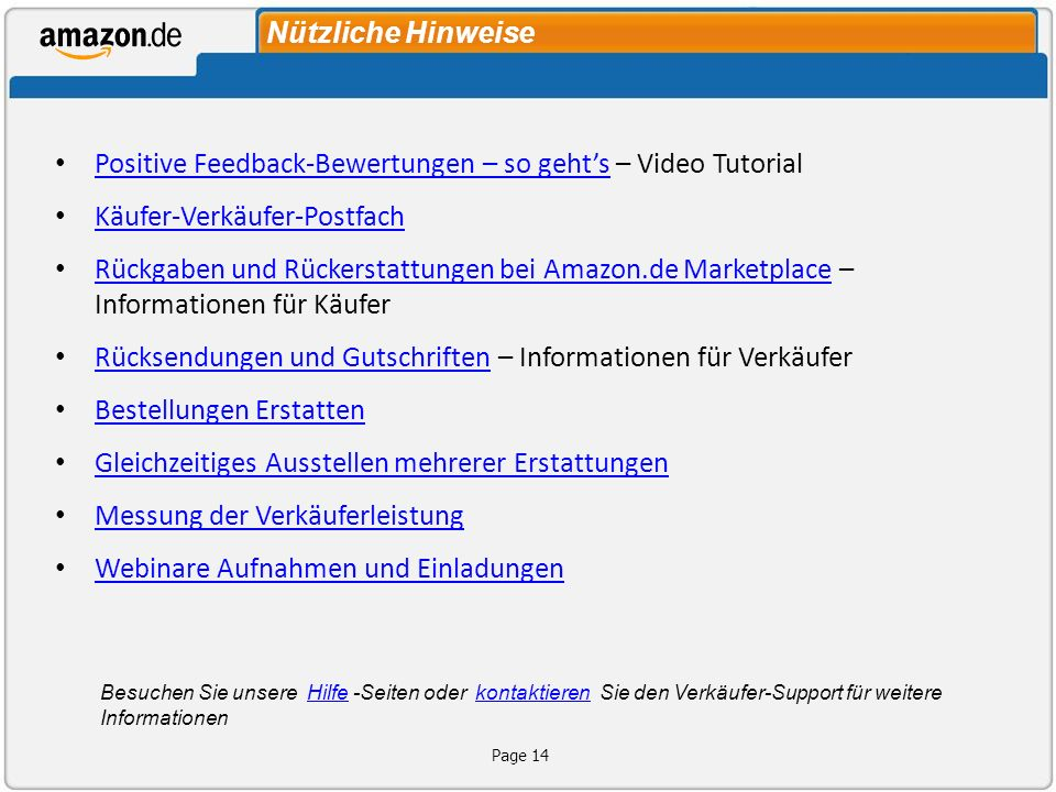 Positive Feedback-Bewertungen – so geht's – Video Tutorial