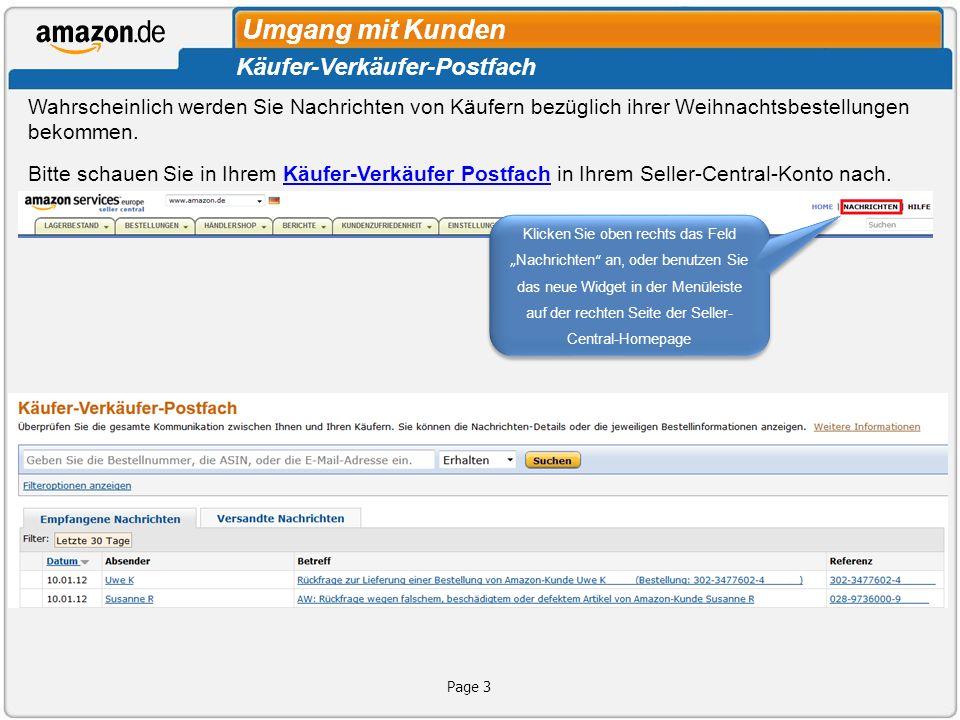 Umgang mit Kunden Käufer-Verkäufer-Postfach