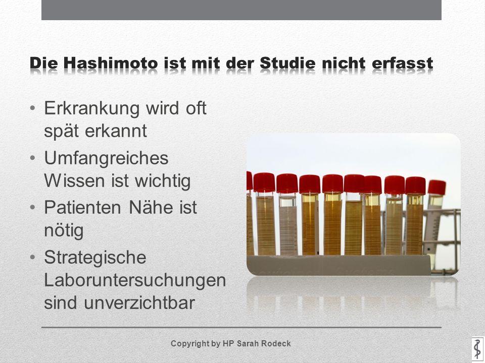 Die Hashimoto ist mit der Studie nicht erfasst