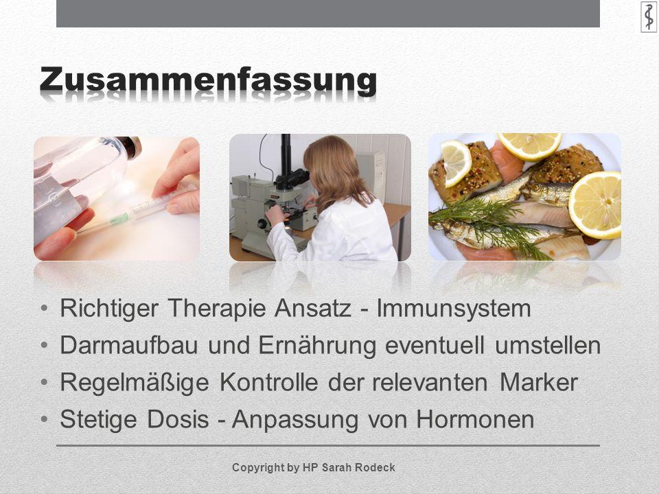 Zusammenfassung Richtiger Therapie Ansatz - Immunsystem