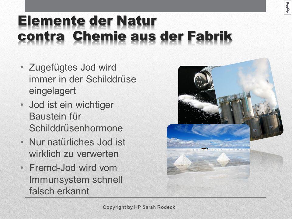 Elemente der Natur contra Chemie aus der Fabrik