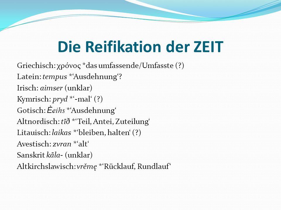 Die Reifikation der ZEIT
