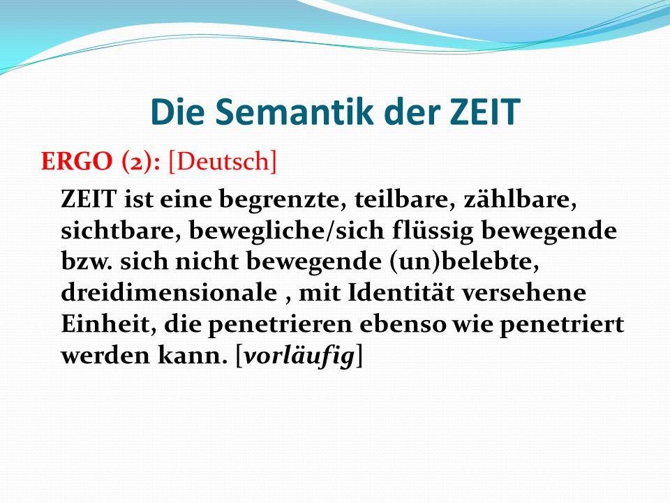 Die Semantik der ZEIT