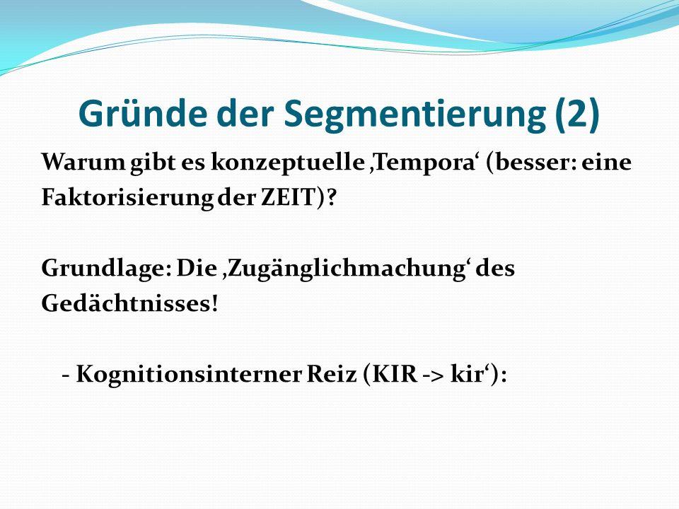 Gründe der Segmentierung (2)
