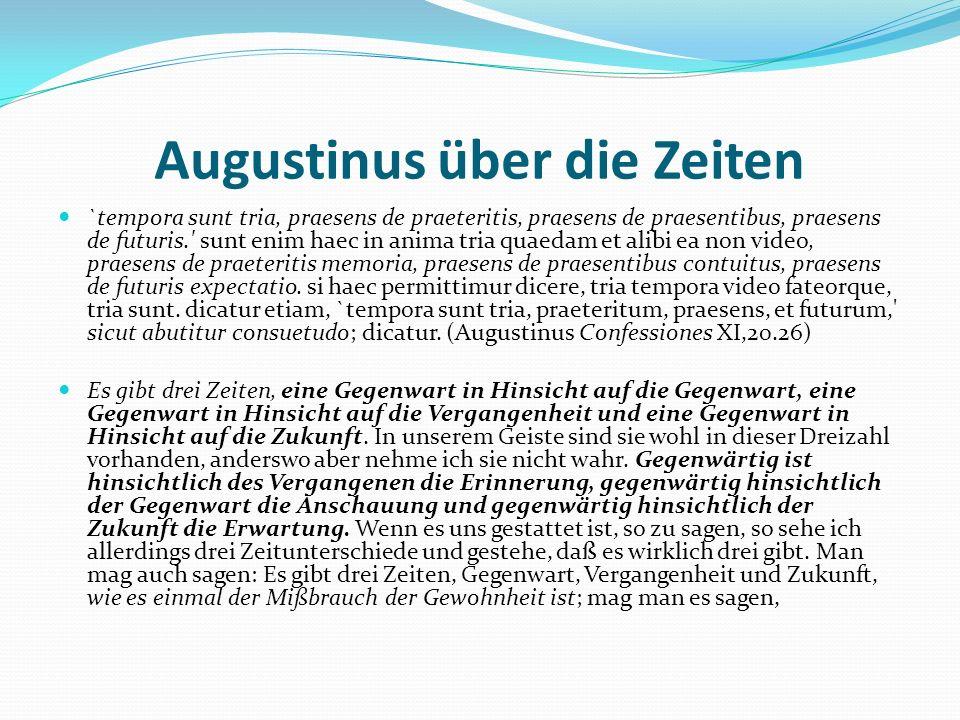 Augustinus über die Zeiten