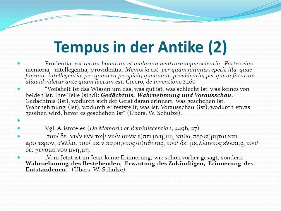 Tempus in der Antike (2)