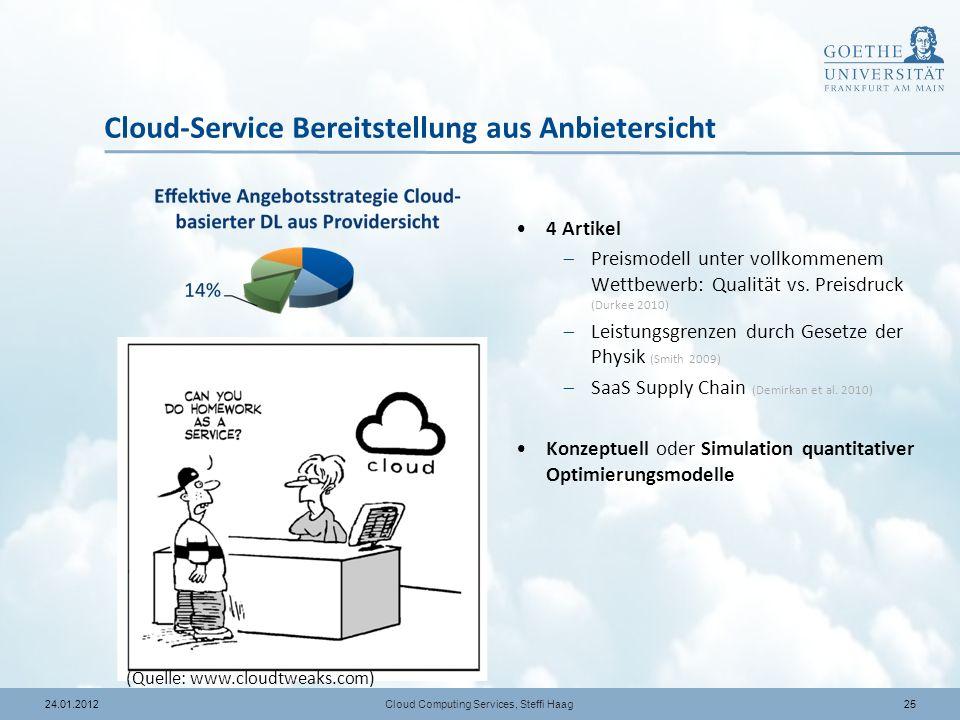 Cloud-Service Bereitstellung aus Anbietersicht