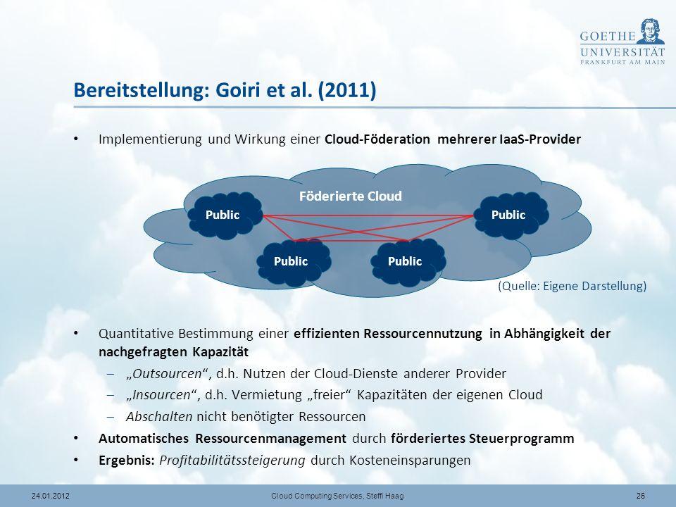 Bereitstellung: Goiri et al. (2011)