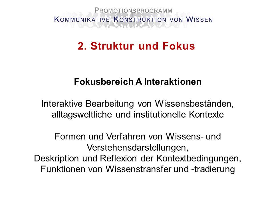 2. Struktur und Fokus Fokusbereich A Interaktionen