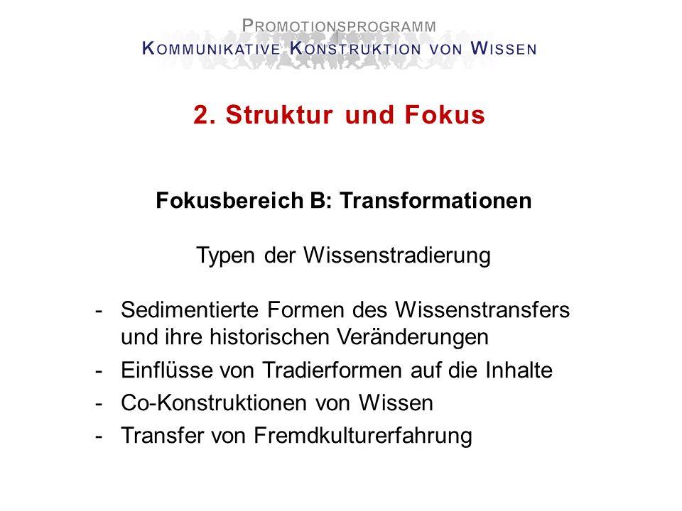 2. Struktur und Fokus Fokusbereich B: Transformationen