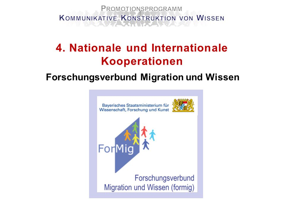 4. Nationale und Internationale Kooperationen