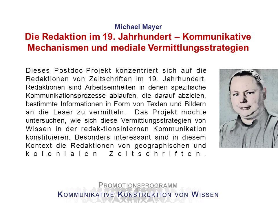Promotionsprogramm Kommunikative Konstruktion von Wissen