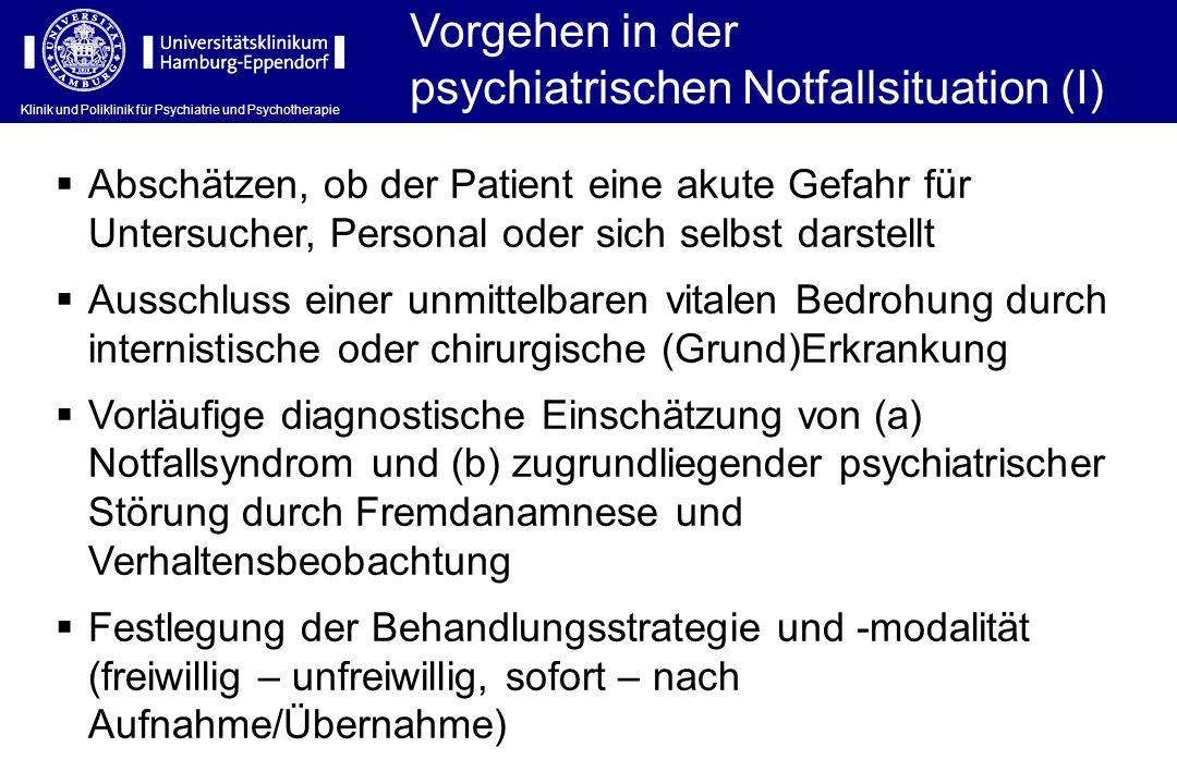 psychiatrischen Notfallsituation (I)