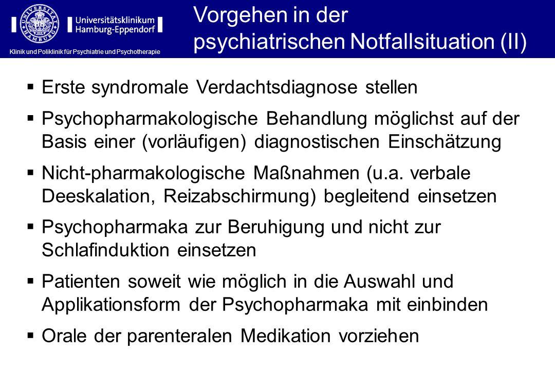 psychiatrischen Notfallsituation (II)