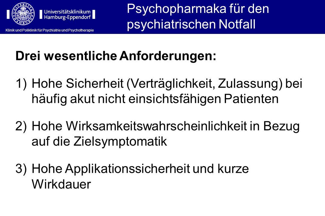 Psychopharmaka für den psychiatrischen Notfall