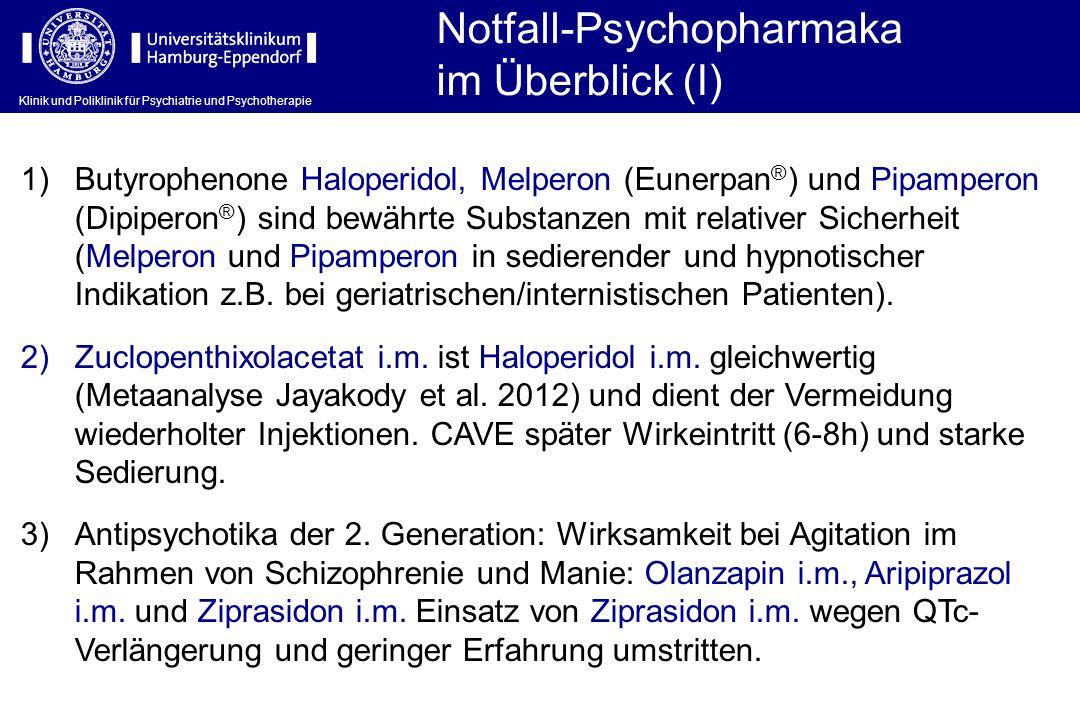 Notfall-Psychopharmaka im Überblick (I)
