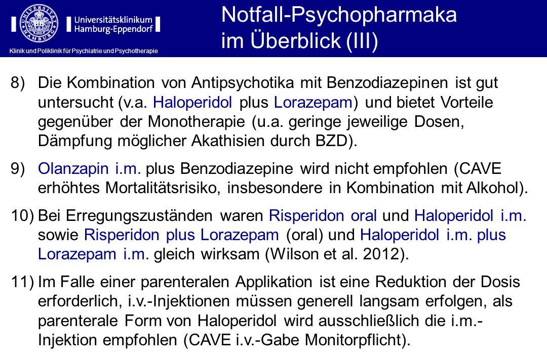 Notfall-Psychopharmaka im Überblick (III)