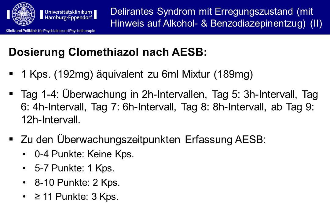Dosierung Clomethiazol nach AESB: