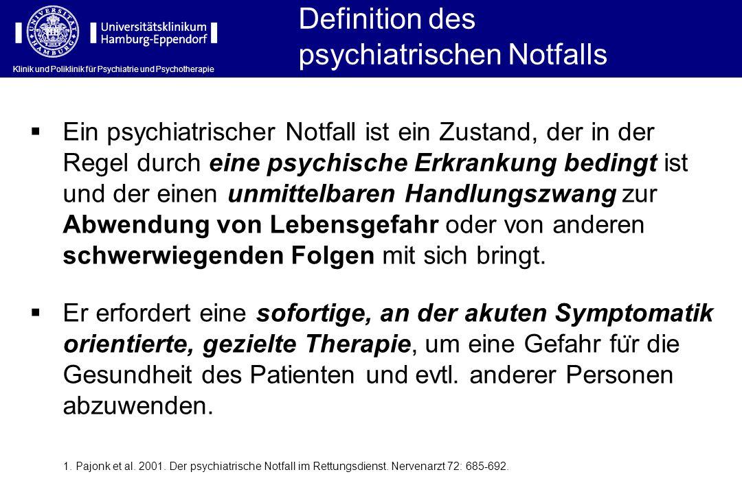 psychiatrischen Notfalls