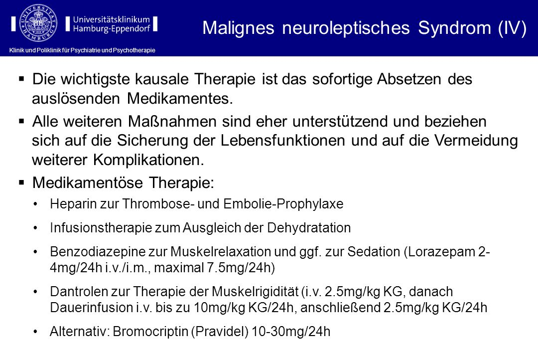 Malignes neuroleptisches Syndrom (IV)